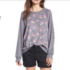 Wildfox Hazy Blooms Sommer Sweatshirt Size Large